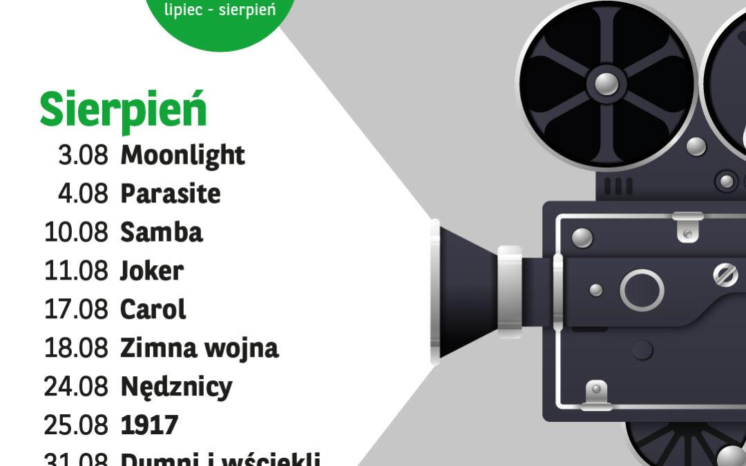 Kino Letnie – repertuar Sierpień 2021