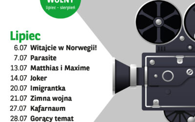 Kino Letnie – repertuar Lipiec 2021